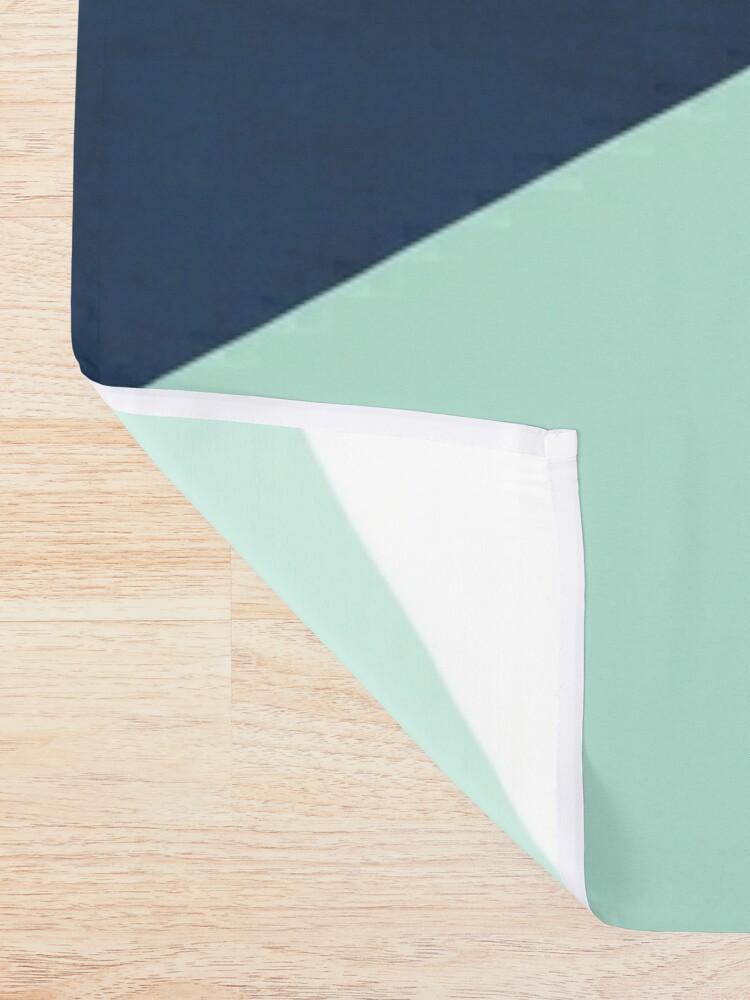 Alternate view of Geometrics - seafoam & blue concrete Shower Curtain
