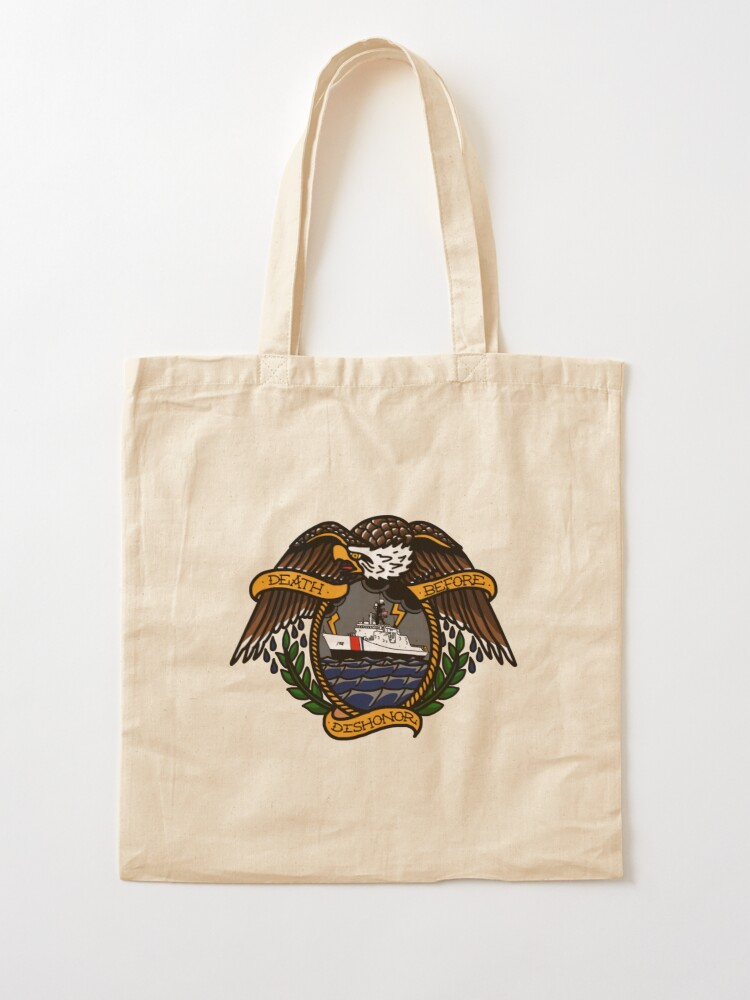 Alternate view of Death Before Dishonor - CG NSC Tote Bag