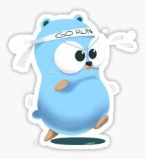 Golang Gopher Go Run Sticker