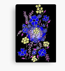 Blue Boquet Canvas Print