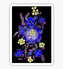 Blue Boquet Glossy Sticker