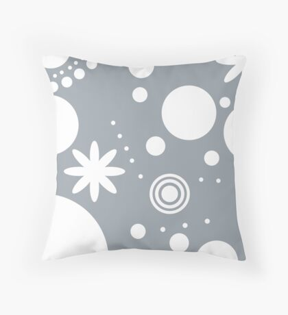 Mpattern Blue/White Throw Pillow