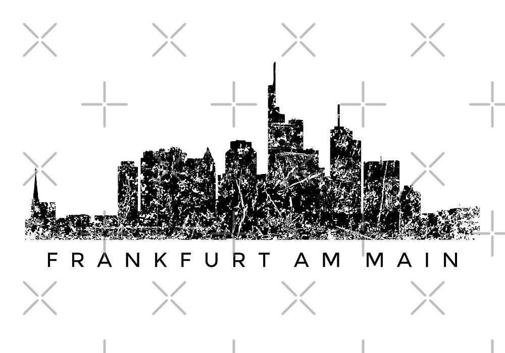 Frankfurter Skyline (Vintage Schwarz) Frankfurt am Main von theshirtshops
