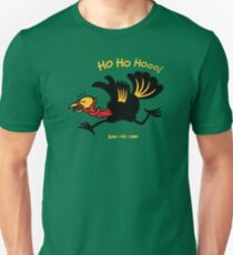 Christmas Turkey Running Away Unisex T-Shirt