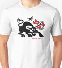 Santa Claus Meets a Bull Unisex T-Shirt