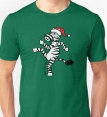 Christmas Zebra Unisex T-Shirt