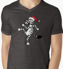 Christmas Zebra Men's V-Neck T-Shirt