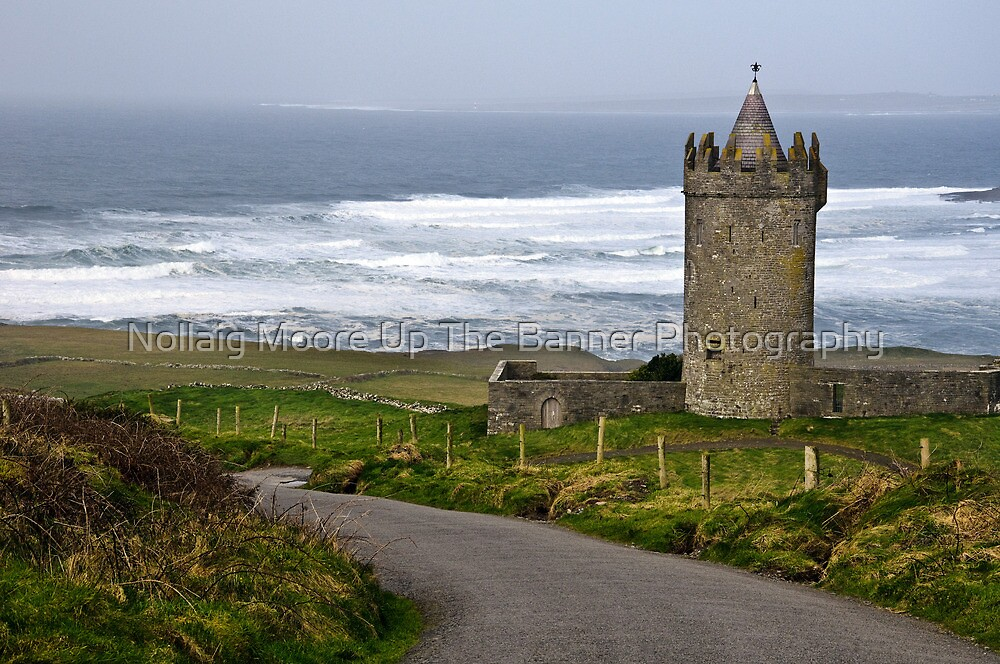 Irish Castle In Doolin, County Clare, Ireland by Noel Moore Up The Banner Photography