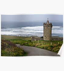 Irish Castle In Doolin, County Clare, Ireland Poster