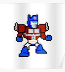 8bit Optimus Prime Transformers no text Poster