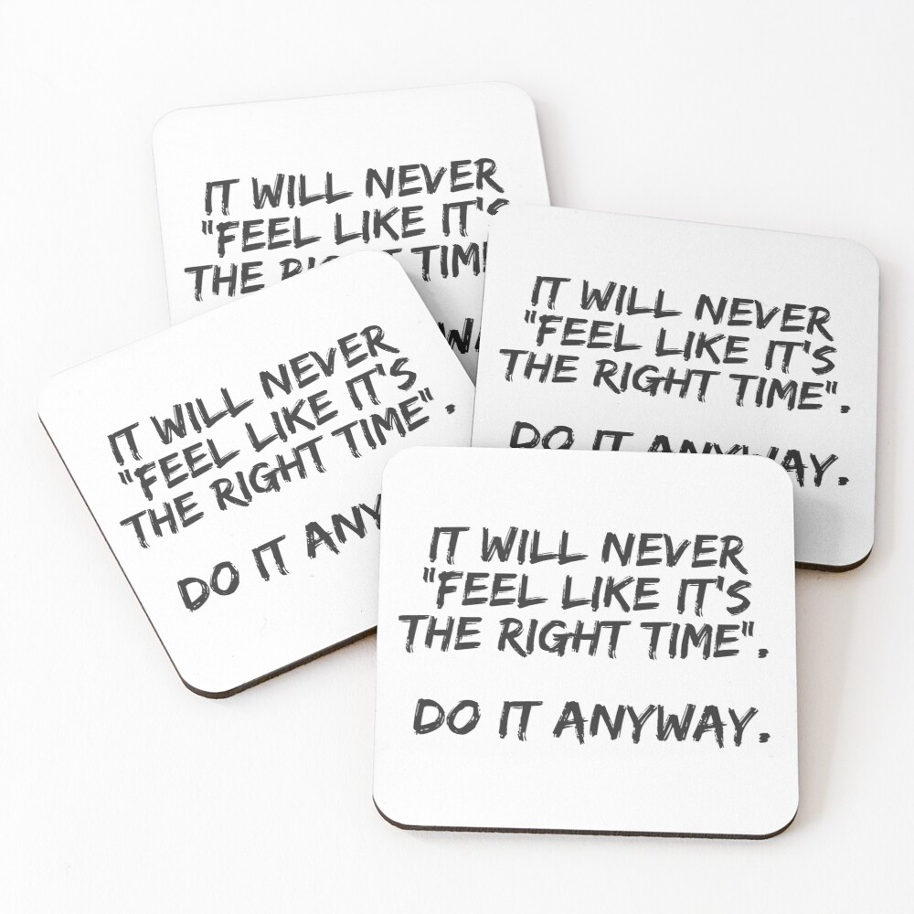 Do It Anyway Coasters (Set of 4)