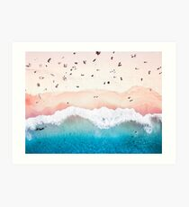 Aerial Sandy Beach Art Print