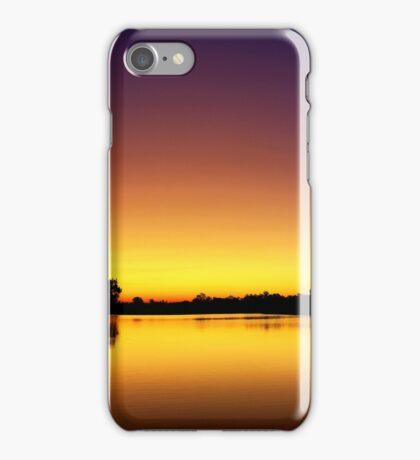 Sunset at Longreach Waterhole iPhone Case/Skin