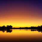 Sunset at Longreach Waterhole by Peter Doré