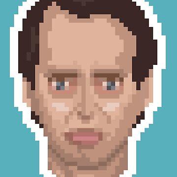Steve Buscemi Pixel Art Illustration by Pixeltier