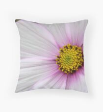 Center Of A  Cosmos Flower Throw Pillow