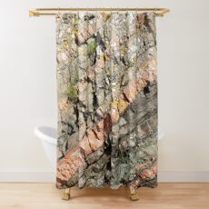 A slice of geology Shower Curtain