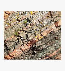 A slice of geology Photographic Print
