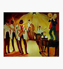 The Trumpeter Amnon and his orchesta in a jam-session Photographic Print