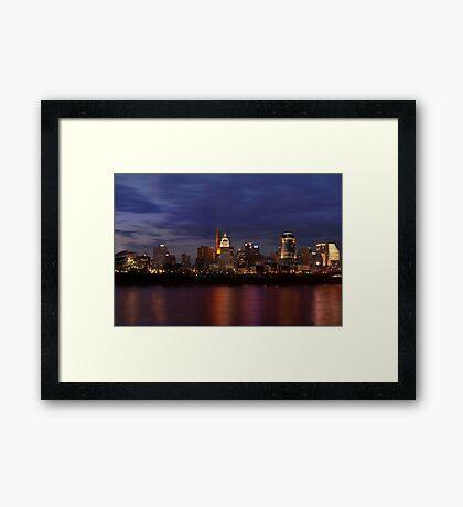 Sky Line Cincinnati Framed Print