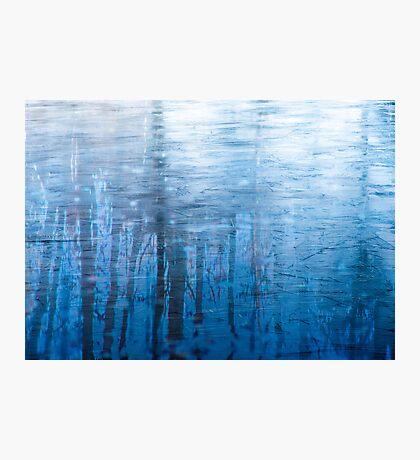 Blue Ice Reflexion Photographic Print
