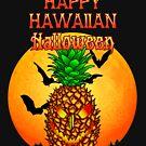 Glücklicher hawaiischer Halloween-Ananas-Schädel von Packrat