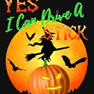 Ja kann ich eine Stock lustige Halloween-Hexe fahren von Packrat