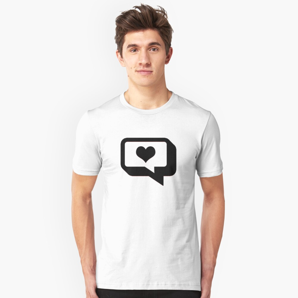 Love Talk. Slim Fit T-Shirt