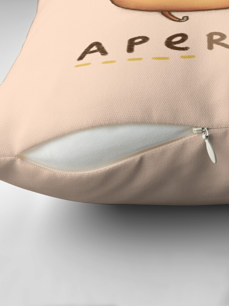 Alternate view of Apericot Throw Pillow
