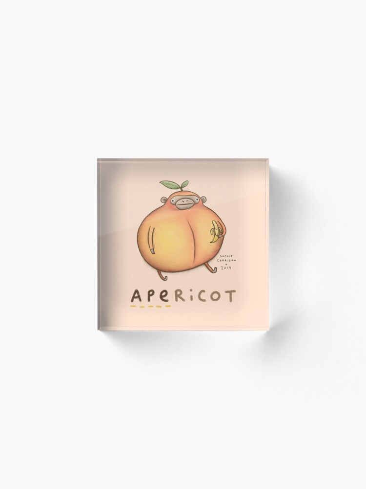 Alternate view of Apericot Acrylic Block