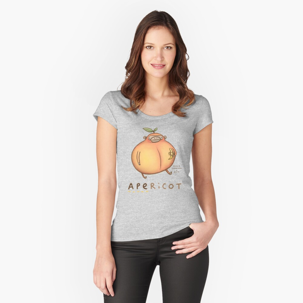 Apericot Fitted Scoop T-Shirt