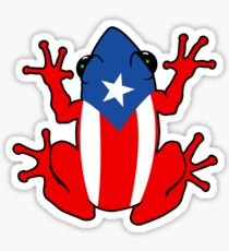 Coqui puerto rico geek funny nerd Sticker
