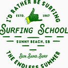 Ye Old Surfing School by kj dePace'