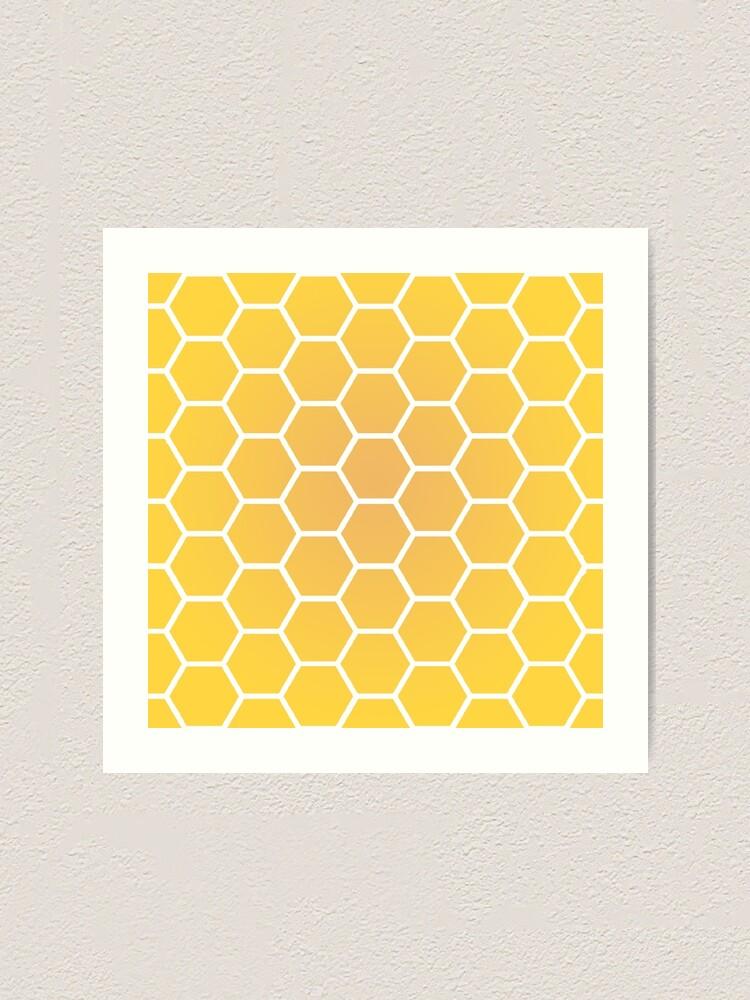 Yellow Honeycomb Gradient Design Art Print