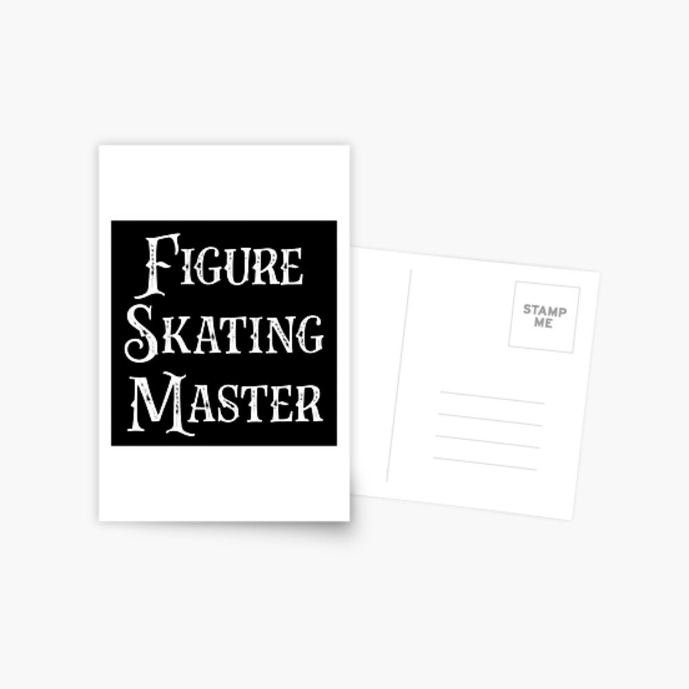 Gift for Ice Skater - Figure Skating Master - Ice Skating Present Postcard