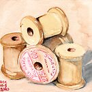 Wooden Spools I by Amy-Elyse Neer