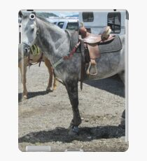 Grey horse iPad Case/Skin