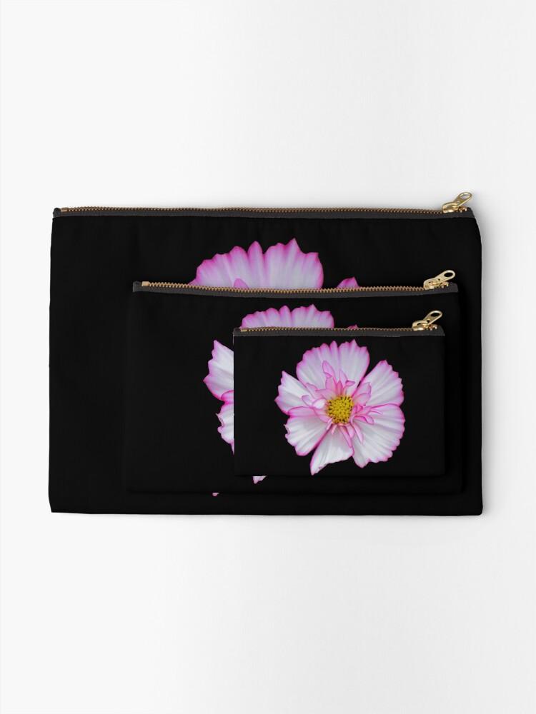 Alternative Ansicht von Blume in pink & weiß, Blumen, Blüte, Garten, Natur Täschchen