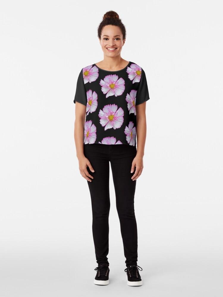 Alternative Ansicht von Blume in pink & weiß, Blumen, Blüte, Garten, Natur Chiffon Top