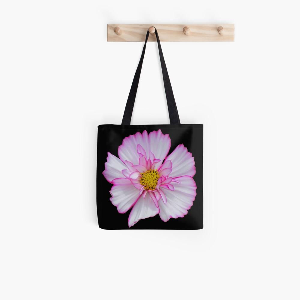 Blume in pink & weiß, Blumen, Blüte, Garten, Natur Stofftasche