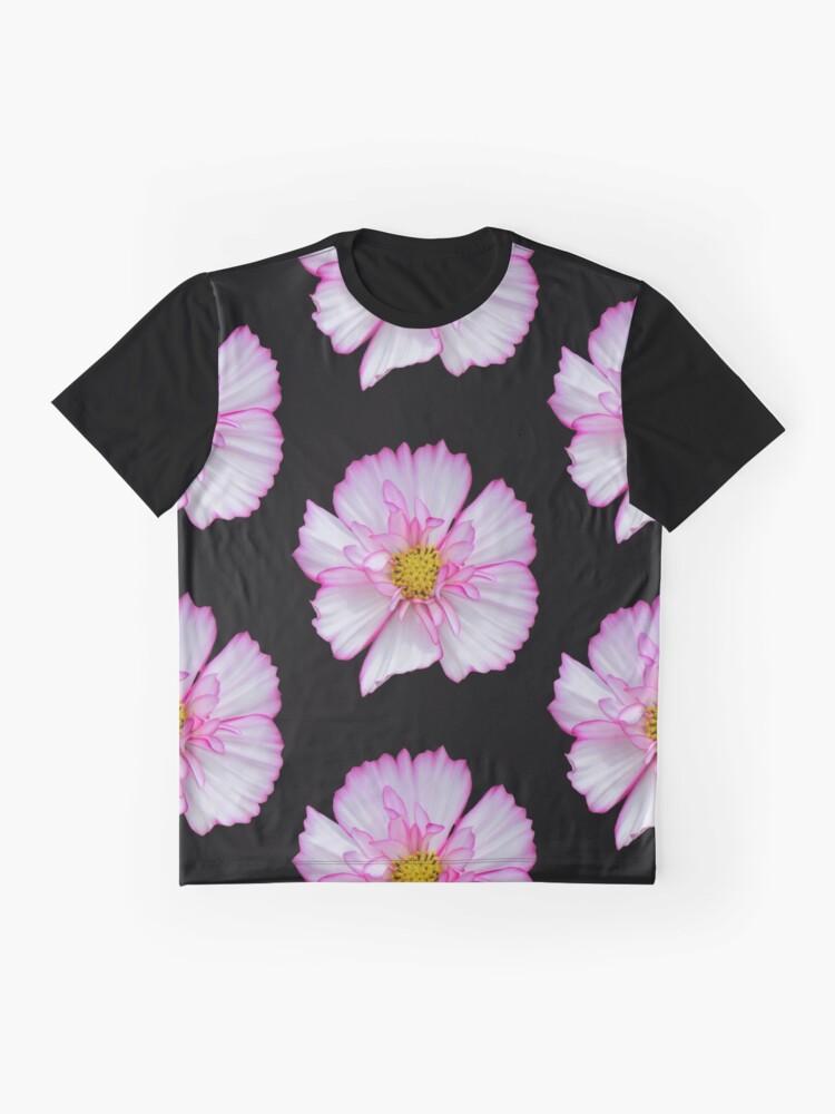 Alternative Ansicht von Blume in pink & weiß, Blumen, Blüte, Garten, Natur Grafik T-Shirt