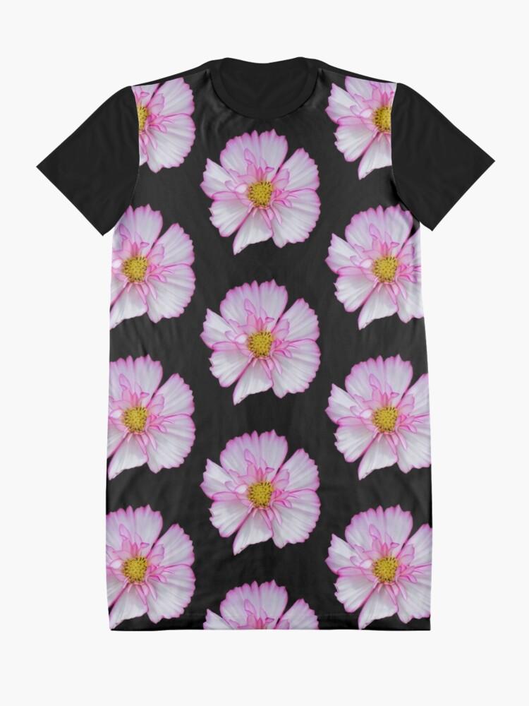 Alternative Ansicht von Blume in pink & weiß, Blumen, Blüte, Garten, Natur T-Shirt Kleid