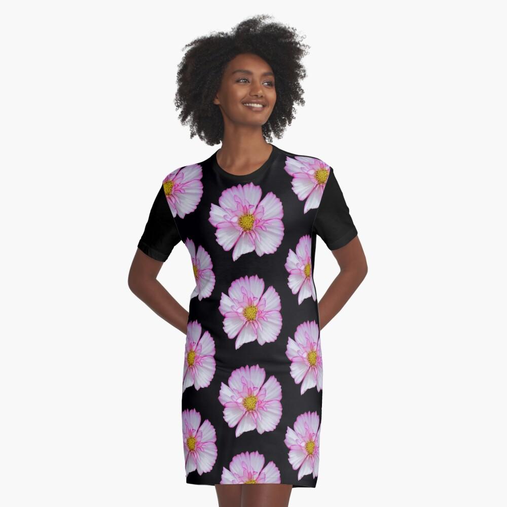 Blume in pink & weiß, Blumen, Blüte, Garten, Natur T-Shirt Kleid