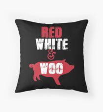 Arkansas Razorbacks Red, White & Woo Throw Pillow