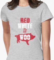 Arkansas Razorbacks Red, White & Woo Women's Fitted T-Shirt