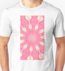 pink and cream Kaliedascope T-Shirt