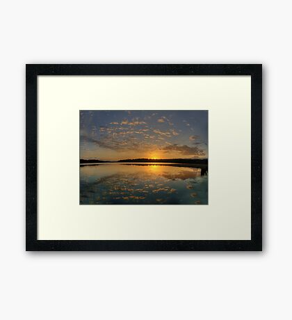 Lace - Narrabeen Lakes, Sydney - The HDR Experience Framed Print