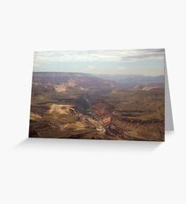 Shadows over Grand Canyon & View of Colorado River Greeting Card