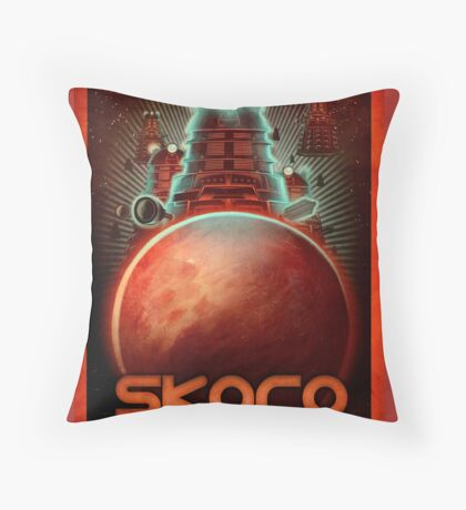 Travel To... Skaro! Throw Pillow