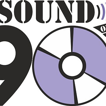 Sound of the 90s purple logo by adart